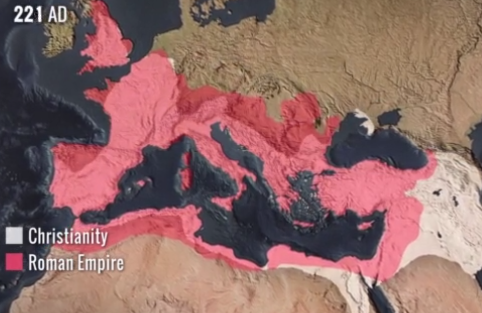 tracing back the history of christianity from the roman empire in 381 ad