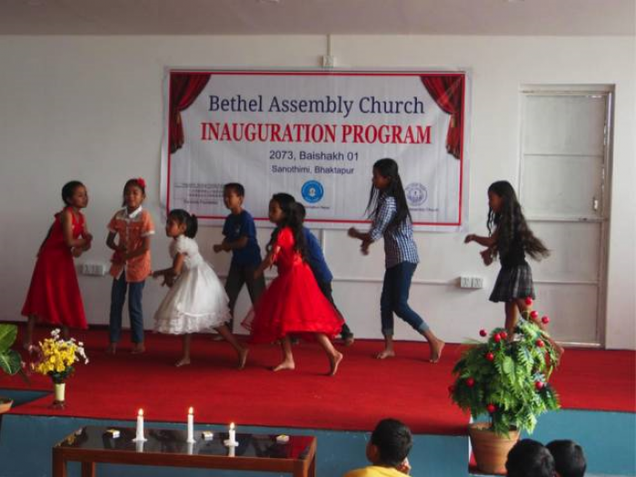 nepalese-children-celebrates-the-nepalese-new-year-and-the-inguration-of-the-new-church