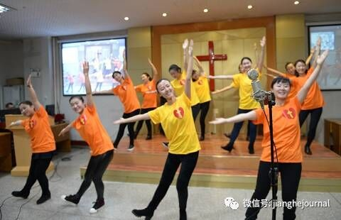 the-service-team-of-sunday-school-performs-a-dance