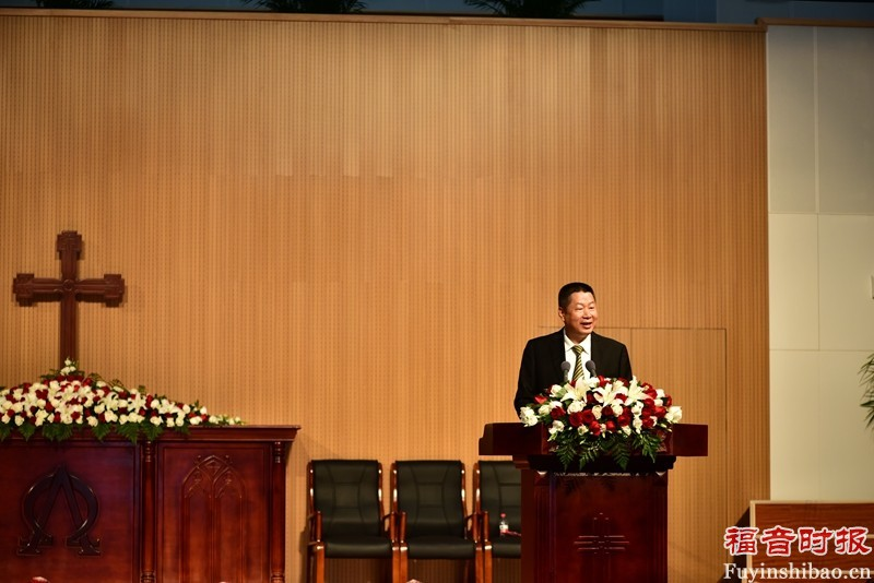 Rev. Chen Yilu, the vice-president of NUTS, addressing on the ceremony. (credit: GospelTimes.cn)