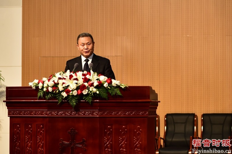 Rev. Gao Feng, addressing during the NUTS event.(credit: GospelTimes.cn)