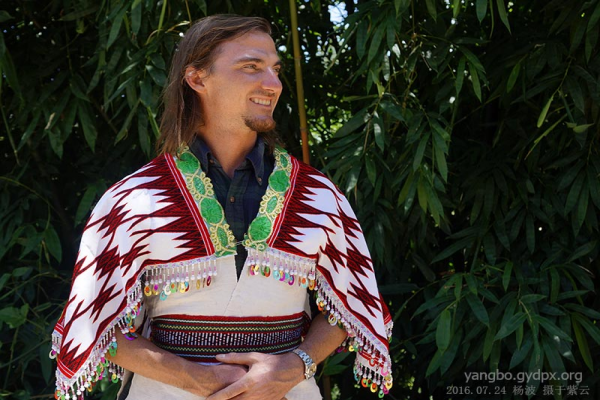 Blake in the traditional Miao Clothing (Photo provided to CCD)