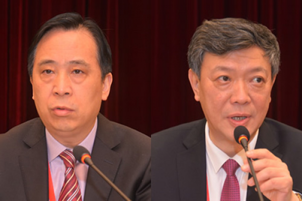 Rev. Xu Xiaohong (LEFT) was elected president of TSPM, and Rev. Wu Wei, chairman of CCC, on Nov. 29, 2018.(CCC&TSPM)