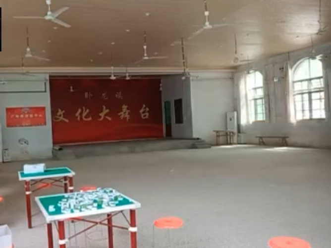 The main hall inside Shangqiu Village Church used for entertainment