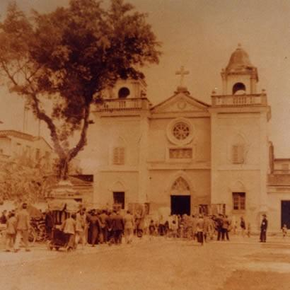 The old Cathedral of the Holy Rosary