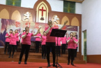 More than ten women lead the worship on March 8