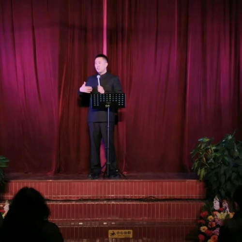 A pastor gave a sermon in the Jinsha Church in Nantong City, Jiangsu Province on December 26, 2020.