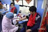 The blood donation activity organized by Ningbo Centennial Church
