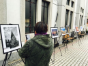 The photos shown in the bazaar held in Hudong Church on April 2