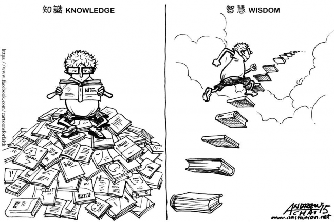 The difference between knowledge and wisdom