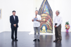 Professor Daozi talks in his poetry and drawing exhition