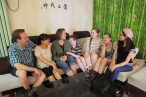 There are house fellowship, as well as the visiting&caring team in churches in China.