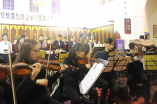 "The classical sacred music concert""Glory to God in the highest""held in Mochou Lu Church on Dec. 12"
