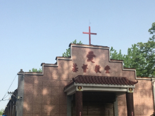 The Church was build in Chinese style with an obvious