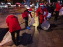 Believers from Kunming Shijicheng Church Cleaned Up Street Rubbish on Christmas Eve