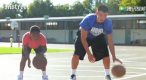 Jeremy Lin played basketball with a black boy.