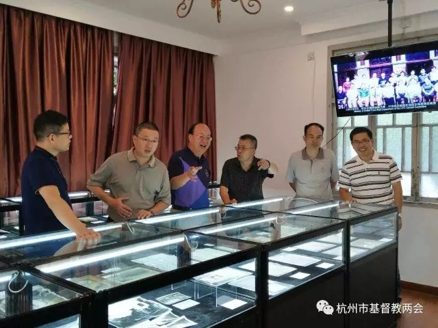 Hangzhou Sicheng Church holds an exhibition of historical pictures and relics of Christianity in Hangzhou.
