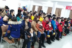 Children with cerebral palsy and their parents attend the fellowship,Changsha