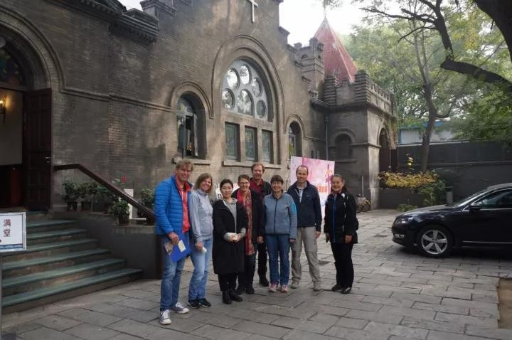 A six-person delegation of the Bavaria YMCA of Germany visited Beijing Chongwenmen Church on October 27, 2017.