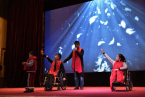 Four disabled orphans performed a show.