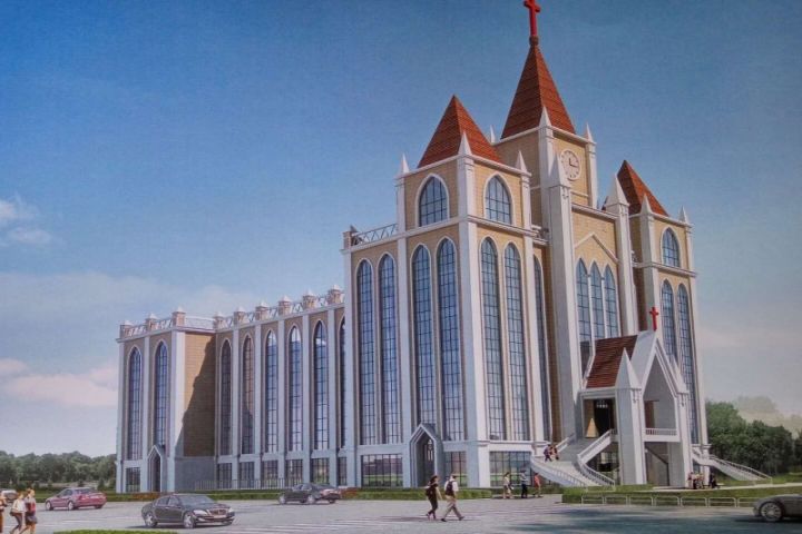 China christian daily blueprint of the new church building malvernweather Gallery