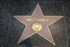 Walt Disney's star in Hollywood