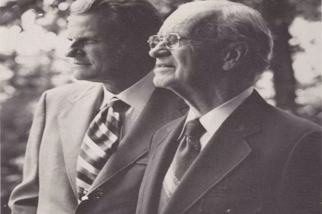 Billy Graham and his father-in-law, Dr. Lemuel Nelson Bell who was a medical missionary in China