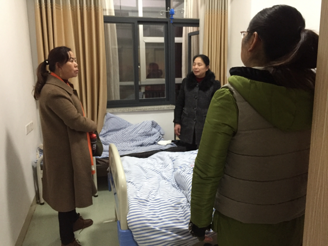 Rev. Xiao visited Sister Fang in a hospital before the 2018 Chinese New Year.