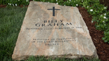Gravestone of renowned evangelist Billy Graham in North Carolina