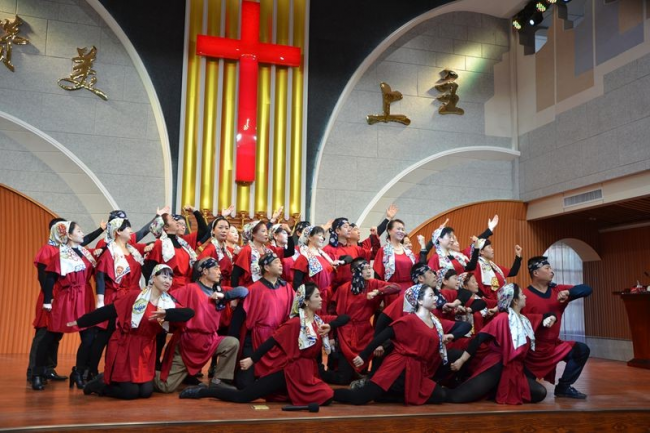 Baoji Shuguang Church gave a performance