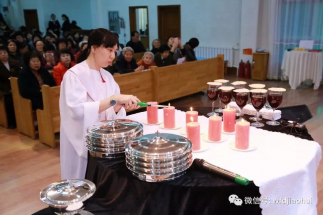 Wafangdian Church in Liaoning hosted a Taizé prayer meeting on Maundy Thursday.