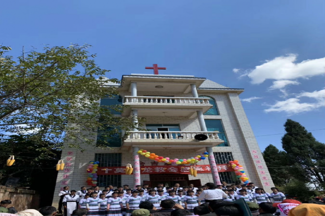 Moyilong Church held the Thanksgiving service outdoors on Nov. 4, 2018.