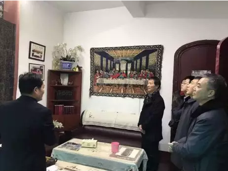 Local officials of Nanjing investigated Nanjing Mochou Lu Church on Feb. 22, 2019.