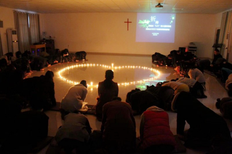 On April 3, 2019, Jiangxi Bible School held a prayer meeting for victims of