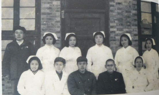 The medical staff of Huizhong Hospital in 1952