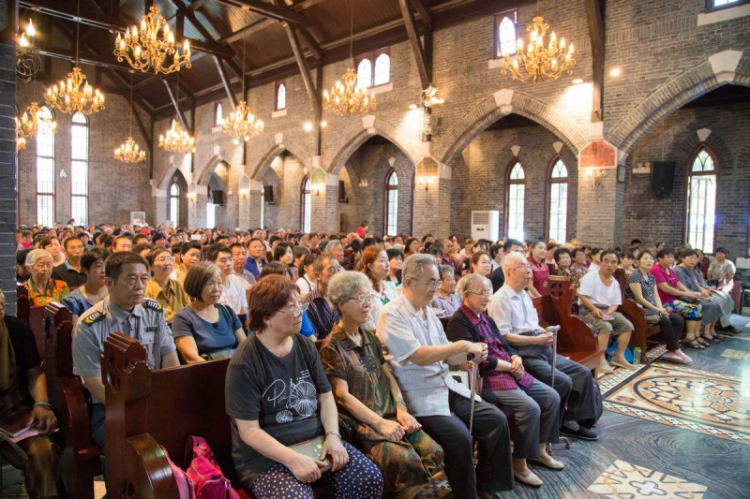 The 30th anniversary of the reopening of Nanjing St. Paul's Church held in 2015