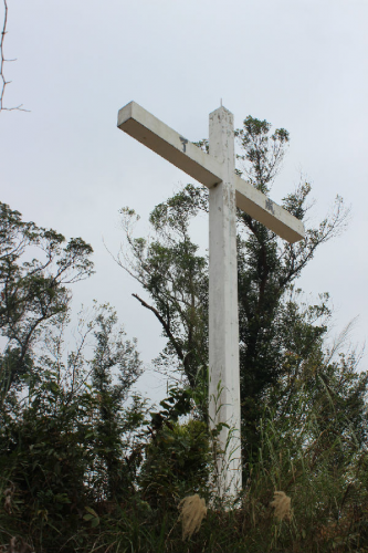 The biggest cross (40-foot-tall) in Hong Kong