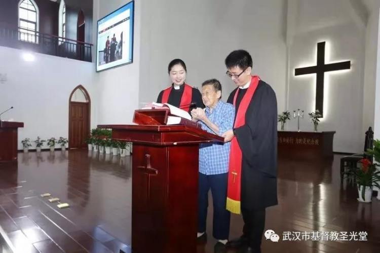Sun Yuqing, the 104-year-old sister, gave her testimony in Wuhan Shengguang Church on Sept 29, 2019.