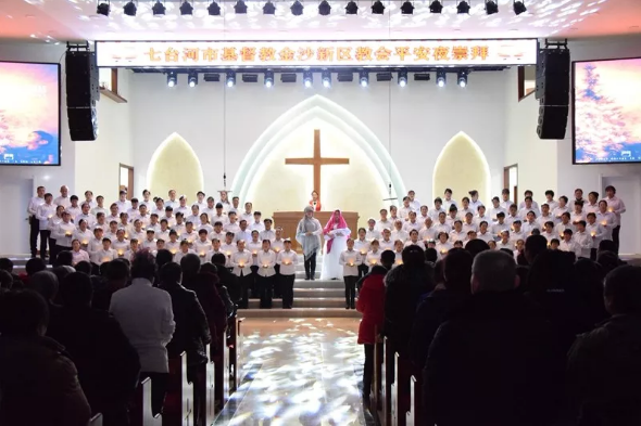 Jinsha New District Church, Qitaihe, Heilongjiang