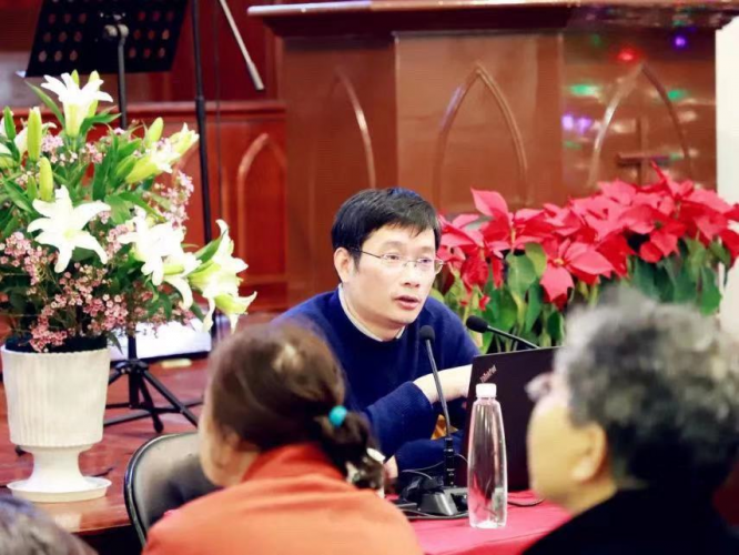 Gu Mengfei, secretary general of TSPM, was invited to Huizhong Church in Shanghai to deliver a keynote speech on