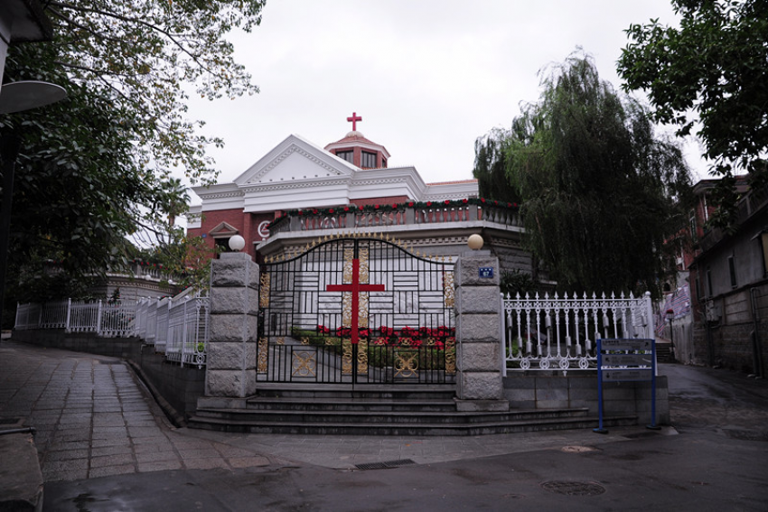 A Christian Church on Gulangyu Island, Xiamen