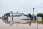 The flood struck Bolin Church in a county of Liuan, Anhui on July 21, 2020.