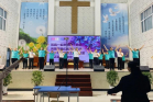 The Jonathan Fellowship of Nanzhan Church, Dongfeng County, Liaoyuan, Jilin Province, led an evening Easter worship and praise meeting on April 4, 2021.
